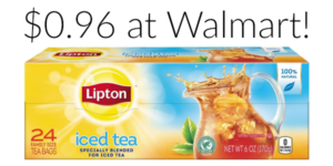 Walmart: Lipton Iced Tea 24-Count Family Size Tea Bags Only $0.96!