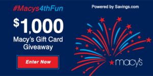Macy's 4th of July Sale – Save 20% Sitewide + Enter to Win a $50 Macy's Gift Card!
