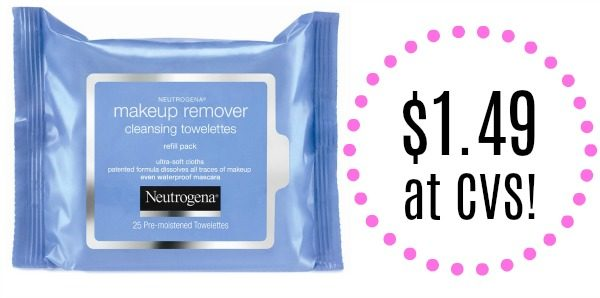 CVS Neutrogena Makeup Remover Towelettes Only $1.49! - Become A Coupon Queen