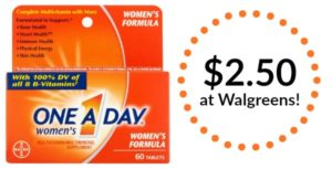 Walgreens: One A Day Women's Multivitamins Only $2.50! (reg. $7.99)