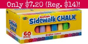 POOF Sidewalk Chalk Set 60-Count Only $7.20!