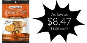 Snack Factory Pretzel Crisps 8-Pack as low as $8.47 ($1.05 Each)!