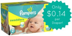 Pampers Swaddlers Diapers Size 2 Only $0.14 Per Diaper!!