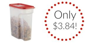 Rubbermaid Flip Top Cereal Keeper Only $3.84!