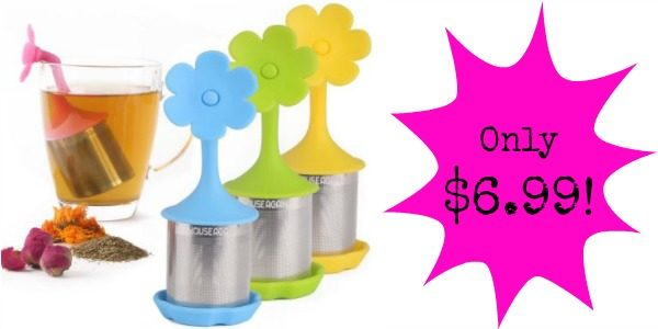 set of 4 flower tea infusers