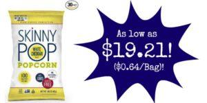 Skinny Pop Popcorn 30 Pack as low as $19.21 ($0.64 per Bag)!