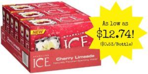 Sparkling Ice Cherry Limeade Fridge Pack 24-Count as low as $12.74 ($0.58/Bottle)!