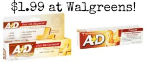 Walgreens: A+D Diaper Rash and First Aid Ointment as low as $1.99!