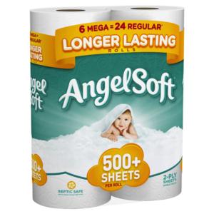 Kroger: Angel Soft Toilet Paper Only $0.17 Per Regular Roll!
