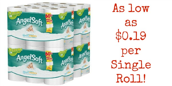 Angel Soft Toilet Paper As Low As 0 19 Per Single Roll