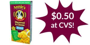 CVS: Annie's Macaroni & Cheese Only $0.50!