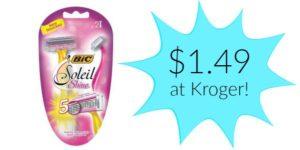 Kroger: Bic Soleil Shine Razor Only $1.49!
