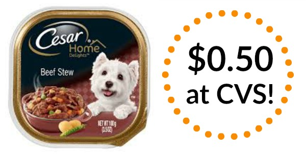 cvs  cesar dog food trays only  0 50