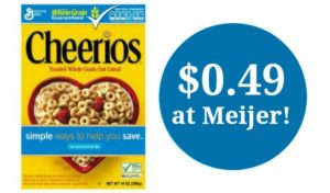 Meijer: Original Cheerios Cereal Only $0.49!