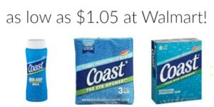 Walmart: Coast Bar Soap and Body Wash as low as $1.05!