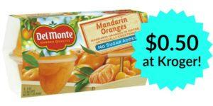 Del Monte Fruit Cups 4-pack Only $0.50 at Kroger!