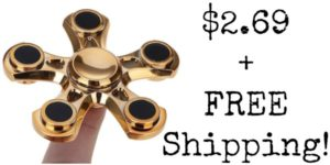 Gold Fidget Spinner Only $2.69 + FREE Shipping!