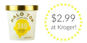 Kroger: Halo Top Ice Cream Pint Only $2.99!
