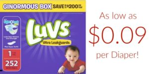 *HOT* Luvs Diapers as low as $0.09 per Diaper SHIPPED!