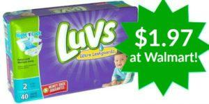 Walmart: Luvs Diapers Jumbo Packs Only $1.97!