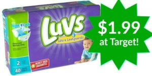 Target: Luvs Diapers Only $1.99!
