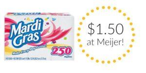 Meijer: Mardi Gras Napkins Only $1.50!