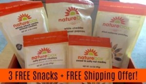 3 FREE Snacks + FREE Shipping Offer from NatureBox!
