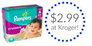 Kroger: Pampers Cruisers Jumbo Pack Diapers Only $2.99!