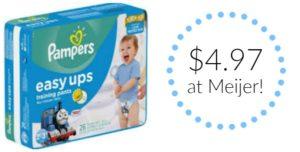 Meijer: Pampers Easy Ups as low as $4.97!
