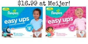 Meijer: Pampers Easy Ups 60-80ct Only $16.99!
