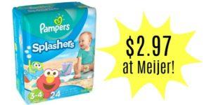 Meijer: Pampers Splashers Swim Diapers Only $2.97!!
