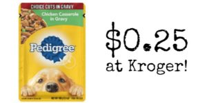 Kroger: Pedigree Pouches Only $0.25!