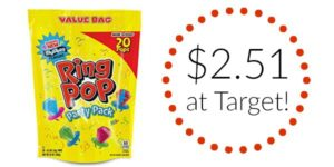 Target: Ring Pop Party Pack 20ct Only $2.51!