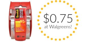 Walgreens: Scotch Packaging Tape Only $0.75!