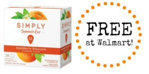 FREE Simply Summer's Eve Cleansing Cloths at Walmart!