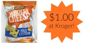 Kroger: Snyder's of Hanover Wholey Cheese Crackers Only $1.00!