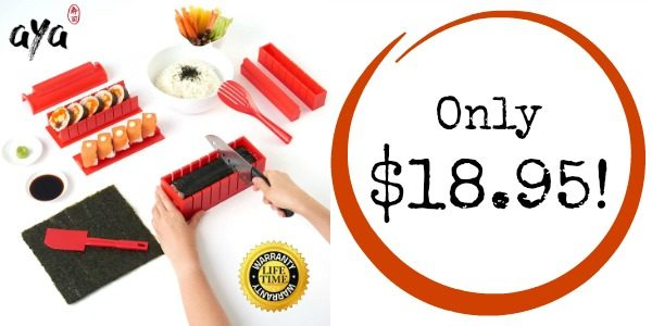 DIY 11-Piece Sushi Maker Kit with Sushi Knife