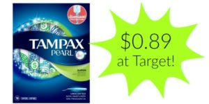 Target: Tampax Pearl Tampons Only $0.89!