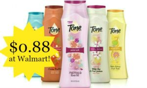 Walmart: Tone Body Wash Only $0.88!