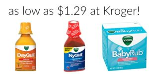Kroger: Vicks Products as low as $1.29!