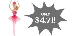 Barbie Fairytale Ballerina Doll Only $4.71!!