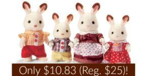 Calico Critters Hopscotch Rabbit Family Only $10.83 (Reg. $25)!
