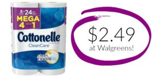 Walgreens: Cottonelle Bath Tissue 6 Mega Rolls Only $2.49!