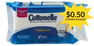 Dollar General: Cottonelle Fresh Care Wipes Only $0.50!