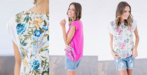 Floral Cap Sleeve Tops – Was $30.00 – Ships for $11.48!