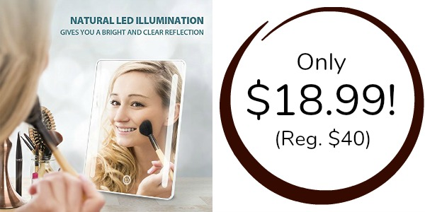 Foldable Led Lighted Makeup Mirror Only 18 99 Reg 40 Become A Coupon Queen