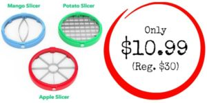 French Fry Cutter + Apple and Mango Slicer Only $10.99 (Reg. $30)!