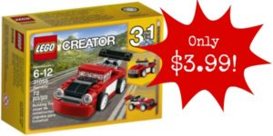 LEGO Creator Red Racer Building Kit Only $3.99! Great Stocking Stuffer!