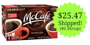 MCCAFE Premium Roast Coffee K-cups 84 Count as low as $25.47! ($0.30/cup)