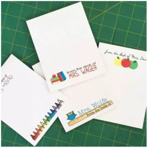 Personalized Teacher Notepads Only $3.50!